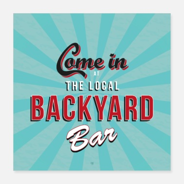 Bar Pub backyard bar - Poster 40x40 cm
