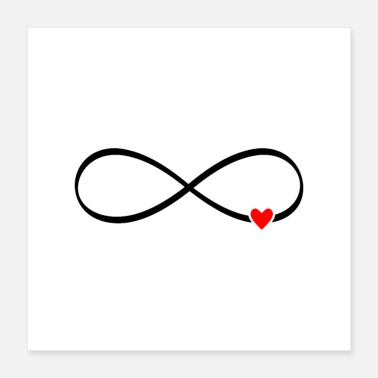 Infinite infinite love - infinity sign heart - Poster