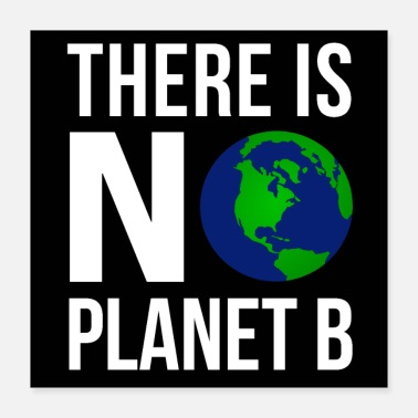 Planet There Is No Planet B Poster (White Font Version) - Poster