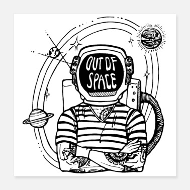 Out Out of Space - Poster 40x40 cm