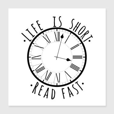 Read faster bookaholic gift for women - Poster 40x40 cm