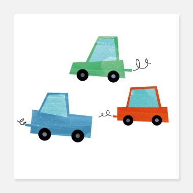 Form Car fun - Poster 40x40 cm