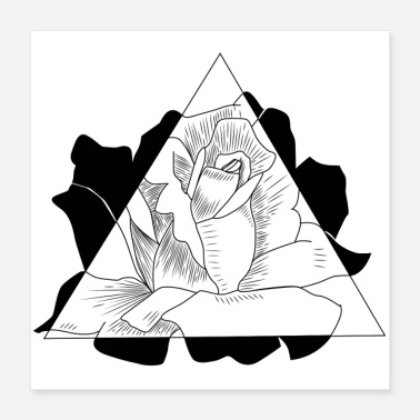 Triangle Triangle Rose - Poster