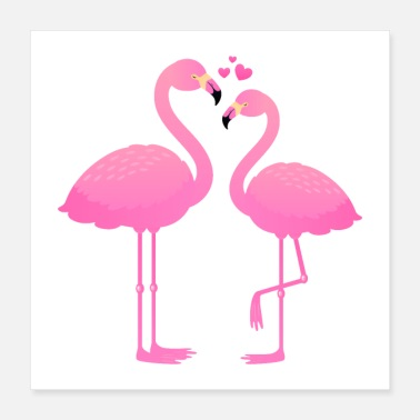 Love Flamingo lovers - Poster