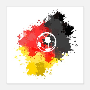 European Champion Soccer Germany - Poster 40x40 cm