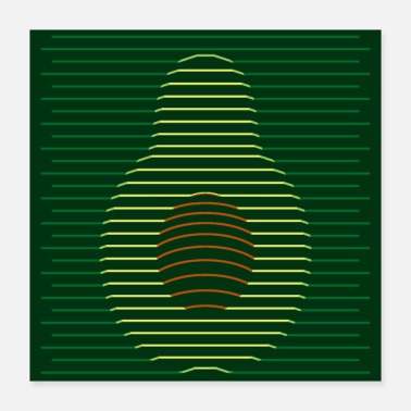 Style Avocado Vector Style - Poster 40x40 cm