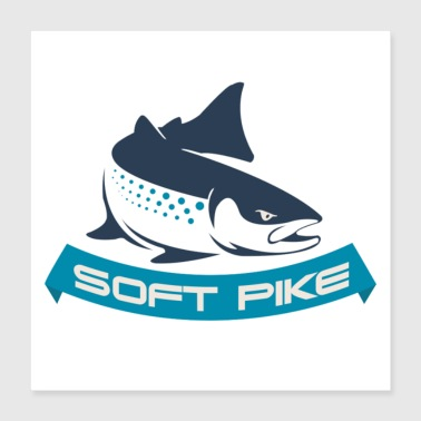 Pike Image - Poster 40x40 cm