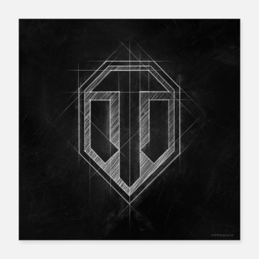 World of Tanks WoT-logotyp - Poster 40x40 cm