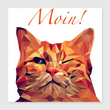 cool cat - Poster 40x40 cm