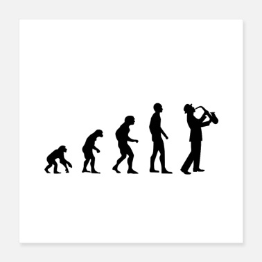 Evolution Musik Evolution - Poster 40x40 cm
