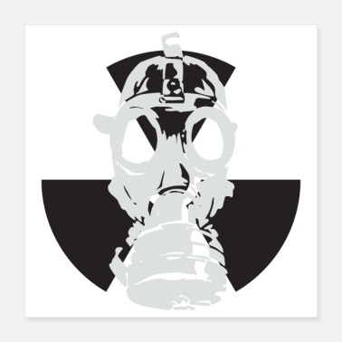 Gewelf Post apocalyptic Atomic Mask-symbool - Poster
