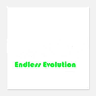 Darwin Endless Evolution white - Poster