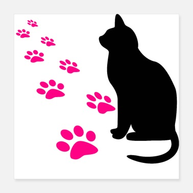 Paw Cat's paws - Poster 40x40 cm