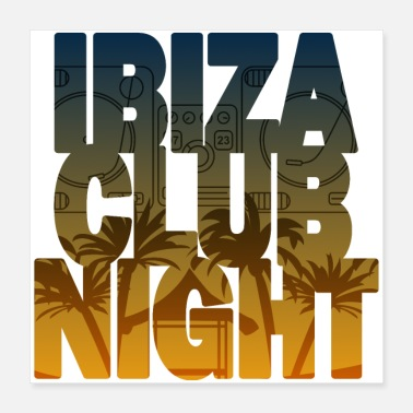 Turntable Ibiza Club Night - Poster