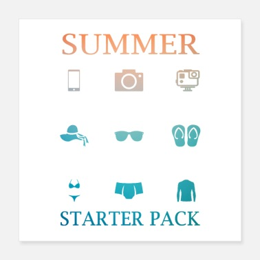 Recreational Summer Starter Pack - Poster 40x40 cm