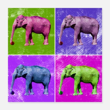 Animal Lover Elephant Popart Africa Animals Animal Lovers - Poster