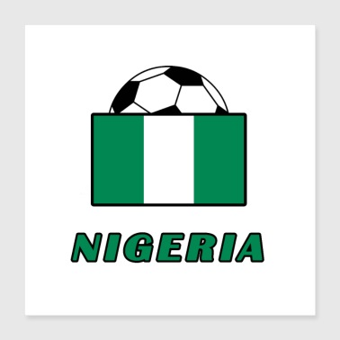 NIGERIA national team design - Poster 40x40 cm