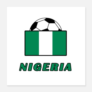 National NIGERIA Nationalmannschaft Design - Poster 40x40 cm