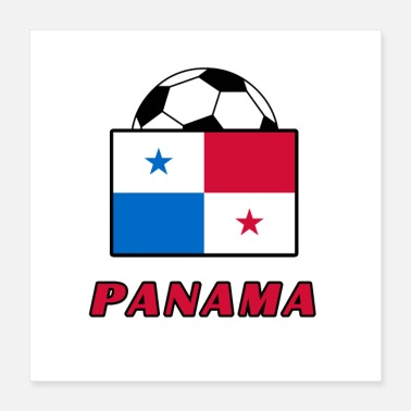 Soccer PANAMA nationaal teamontwerp - Poster 40x40 cm