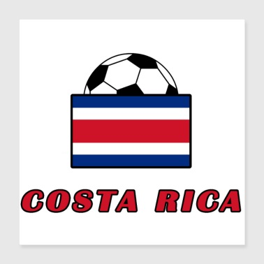 COSTA RICA national team design - Poster 40x40 cm
