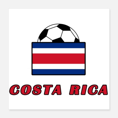 Soccer COSTA RICA nationale teamontwerp - Poster 40x40 cm