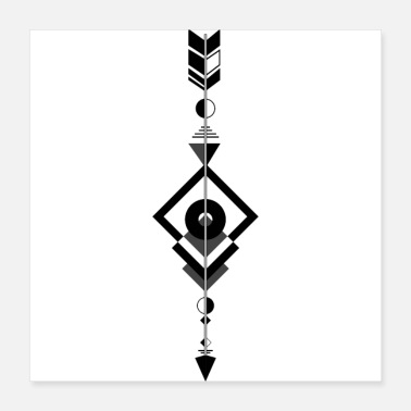 Sioux Arrow indian symbol - Poster
