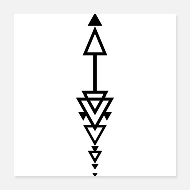 Arrow Arrow triangle - Poster 40x40 cm