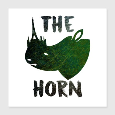 The Horn - Poster 40x40 cm