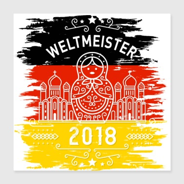 Soccer Weltmeister - Poster 40x40 cm