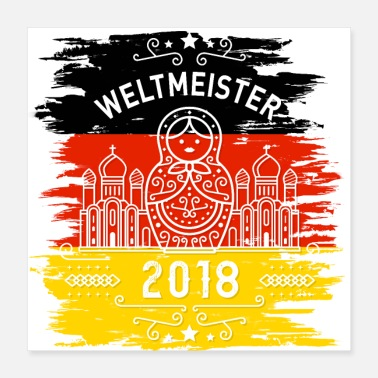 Weltmeister Weltmeister - Poster 40x40 cm