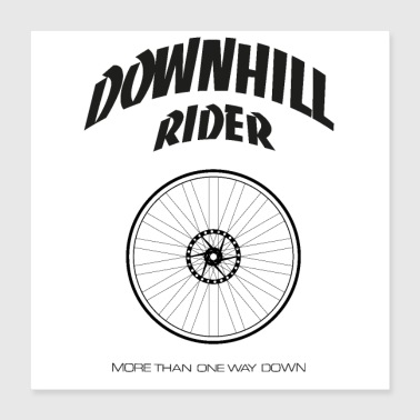 Downhill rijder - Poster 40x40 cm