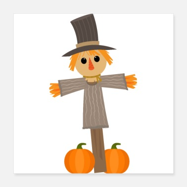 Yell Scarecrow - Disguise Halloween Pumpkin Costume - Poster