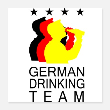 Europameister DRINKING TEAM GERMANY - Poster