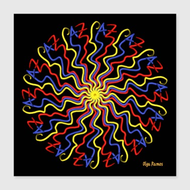Occasion I write Paz (Black Background) - Poster 40x40 cm