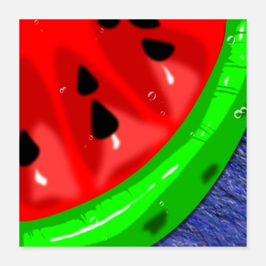 Cold watermelon watermelon Summer Love Cold - Poster 40x40 cm