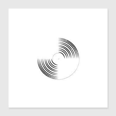 U bent Music in Me - Music Creative Record - Poster 40x40 cm