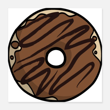 Partner Chocolate donut gift idea partner look - Poster 40x40 cm