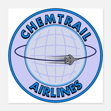 Airline Chemtrail Airlines - Poster