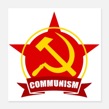 Communisme COMMUNISME Rode leger Star Banner-badge - Poster