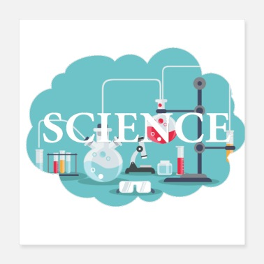 Wetenschappelijke Dream of Science - Gift Intelligent Nerd - Poster