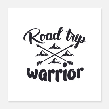 Road Trip Road Trip Shirt Wanderlust Travel Motivational Gift - Poster 40x40 cm