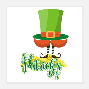 Foot St. Patrick's Day hat beard elf foot boots - Poster