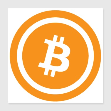 Bitcoin Logo Classic Poster - Poster 40x40 cm