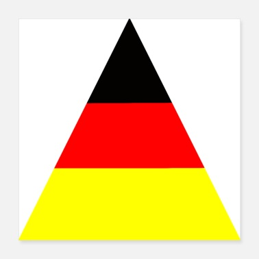 European Champion Germany triangle - Poster 40x40 cm