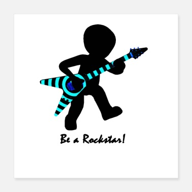Rock Music guitar player - Poster
