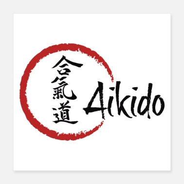 Philosophy Aikido poster, canvas - Poster 40x40 cm
