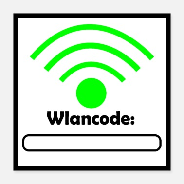 Code Wlan Code Poster - Poster 40x40 cm