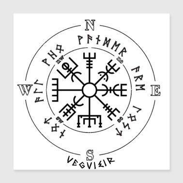 Weather vegvisir - Poster 40x40 cm