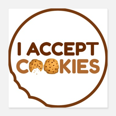 Tand Jeg accepterer cookies - Poster
