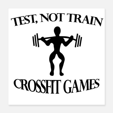 Game fit games to train - Poster 40x40 cm